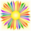 Stock Vector: Rainbow sun