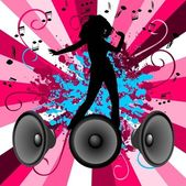 Dancing and music — Stock Vector