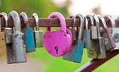 Pink heart-shaped lock — Stock Photo
