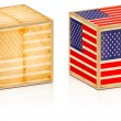 Foto Stock: American old box