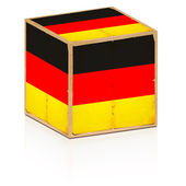 Old box with german flag on it — Stock Photo