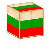 保加利亚国旗上它与旧框 — 图库照片