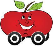 Apple car transportation — Stock Vector
