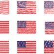 American flags - Image vectorielle