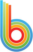 Colorful letter b — Stock Vector