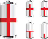 England battery — Stock Vector