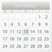 Calendar design - November 2013 — Stock Vector