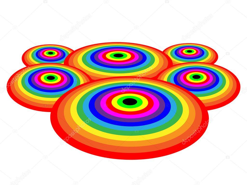 Rainbow Circles Wallpaper Rainbow Circles Vector by