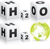 H2o formula — Stock Vector
