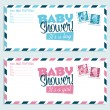 Stock Vector: Baby Shower Invitation Envelopes