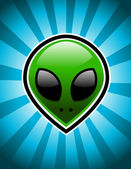 Green Alien — Vector de stock