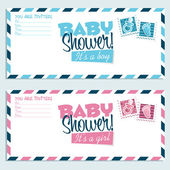 Baby Shower Invitation Envelopes — Stock Vector