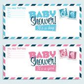 Baby Shower Invitation Envelopes — Stock Vector