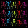 Colorful Dancing Skeletons — Stock Vector #11802225