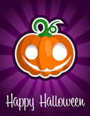 Happy Halloween Smiling Pumpkin — Stock Vector