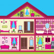 House for the girl in a cut — Stock Vector #11067026