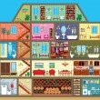 House in cut — Vector de stock #11070254
