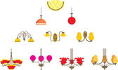 Conjunto de lámparas — Vector de stock