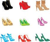 女鞋子套 — 图库矢量图片