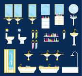 Badezimmer Ausrüstung Satz — Stockvektor