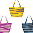 Stock Vector: Set of beach bags