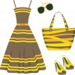 Royalty-Free Stock Vector Image: Summer set of clothes