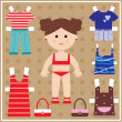 Paper doll with clothes set — Stock Vector #11859130