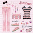 Jeans fashion set — Stock Vector #11859139