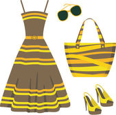 Summer set of clothes — Stockvector