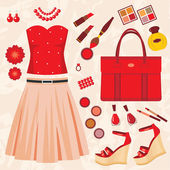 Fashion set — Stock Vector