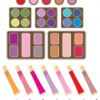 Stock Vector: Set of decorative cosmetics
