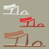 ženské sandály — Stock vektor