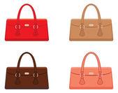 Kvinnliga väskor — Stockvektor