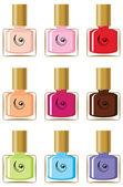 Nail polishes — Stock Vector