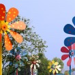 Colorful windmill in amusement park — Stock Photo