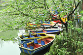 Boat on the pond — Stock Photo