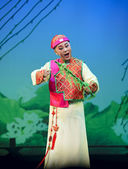 Chinese traditional opera actress with theatrical costume — Stock Photo