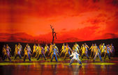 The famous chinese dance drama : Railway Guerrillas — Stok fotoğraf