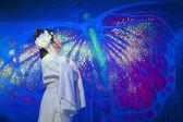 Pretty Chinese Yue opera actress — Stock Photo