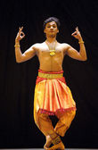 Indian Kalakshetra dancer — Stock Photo