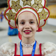 Touring show performance of Russian folk dance — Stock Photo