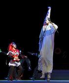 Palhaço de ópera tradicional chinesa — Foto Stock