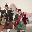 Touring show performance of Scotland Highland musicians — Stock Photo #10794402