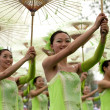Touring show performance of chinese ethnic dancers — Stock Photo #10795431