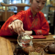 Chinese tea ceremony girl — Stock Photo