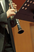 Clarinetist on concert — Stock Photo