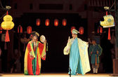 Chinese traditional opera actors with theatrical costume — Stock Photo