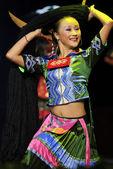 Chinese ethnic dancer — Stock Photo
