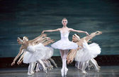 Swan Lake ballerinas — Stock Photo
