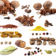 Different spices — Stockfoto